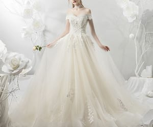 ball gown, beading, and pearl image