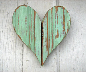 heart, art, and green image