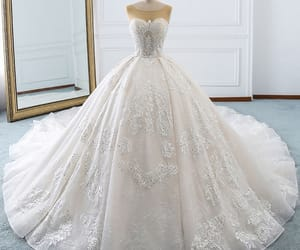 backless, ball gown, and rhinestone image