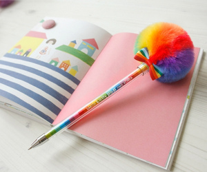 book, colorful, and rainbow image