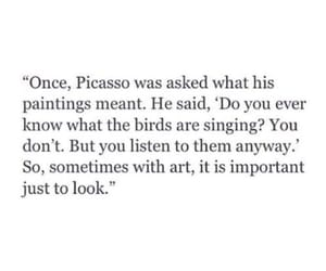 quotes, picasso, and art image
