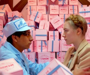 ralph fiennes, the grand budapest hotel, and Saoirse Ronan image