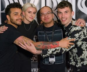 pvris, alex babinski, and lynn gunn image