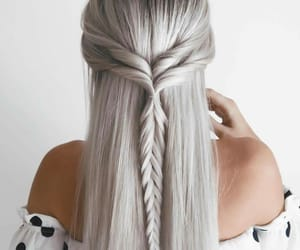 blond, coiffure, and gris image