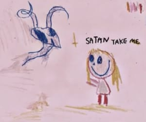 satan, grunge, and pink image