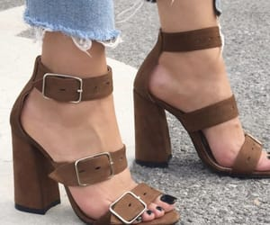 brown, high heels, and fashion image