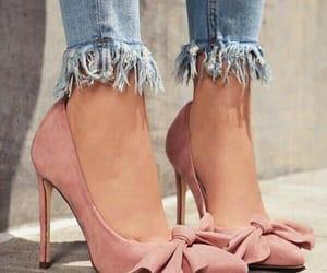 footwear, pink, and heels image