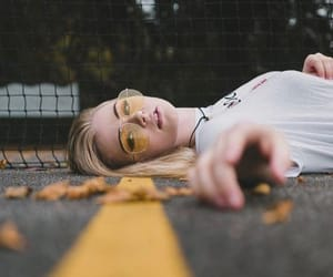 girl, photography, and yellow image