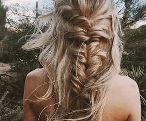 hairstyle, blond, and coiffure image