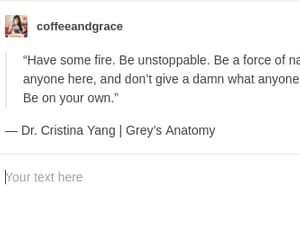 cristina yang, meredith grey, and quotes image