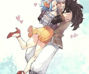 levy, fairy tail, and gajeel image