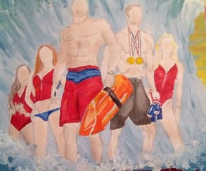 summer, baywatch, and the rock image