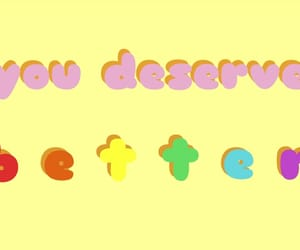 rainbow, words, and yelow image