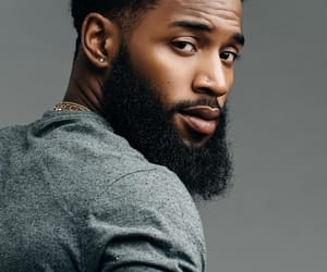 beard, fine, and black men image