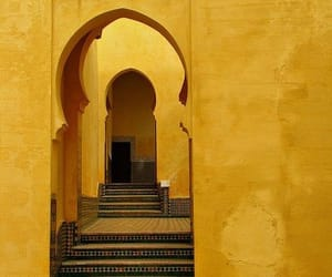 yellow, morocco, and aesthetic image