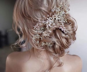 blonde, hair, and sparkle image