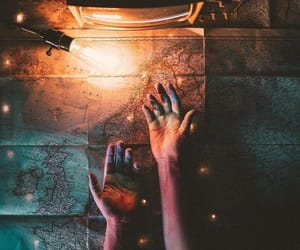 hands, map, and world image