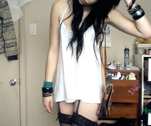 female, garters, and Piercings image