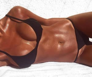 abs, beach, and sexy image