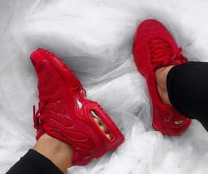 shoes, red, and nike image