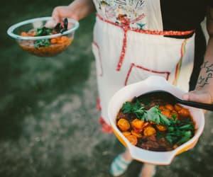 cook, happy, and veggies image