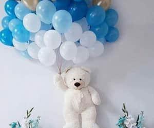 blue, photography, and ballon image