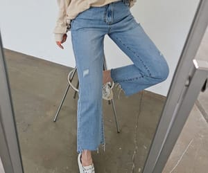 beige, blue, and jeans image