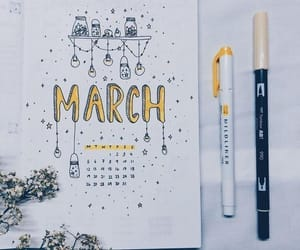 art, bullet journal, and bujo image