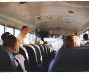 bus, boy, and girl image