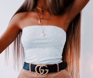 belt, gucci, and hair image