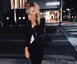 girl, fashion, and night image