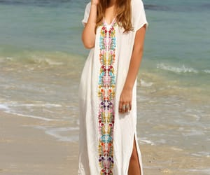 beach, clothing, and dress image
