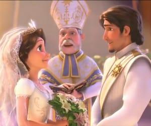 couple, disney princesses, and rapunzel image