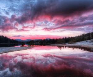 sky, gif, and pink image