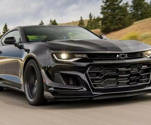 black, car, and camaro image