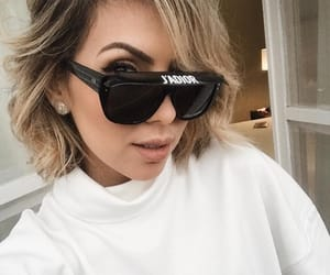 beauty, short hair, and sunglasses image