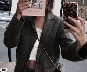fashion, book, and girl image