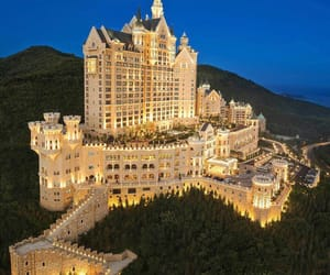 hotel, castle, and china image