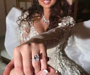 beach, bride, and diamond image