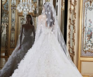 bridal, elie saab, and wedding image