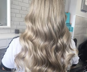 blonde, hair, and hairdressing image