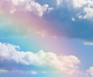 rainbow, sky, and wallpaper image
