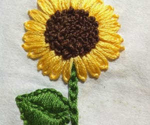 diy, embroidery, and sunflower image