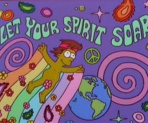 hippie, simpsons, and spirit image
