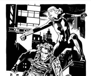 black and white, bucky barnes, and mcu image