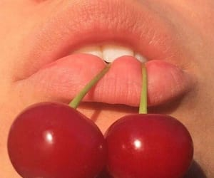 cherry, lips, and red image