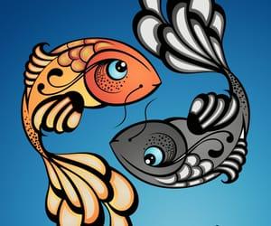 fish, koi, and ying image