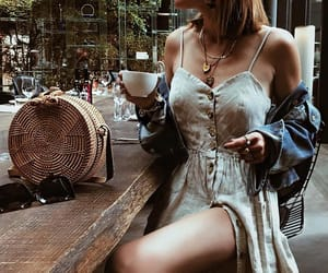 cafe, dress, and casual image