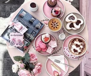 coffee, food, and pink image