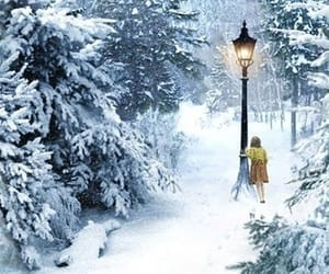 narnia, snow, and Lucy image